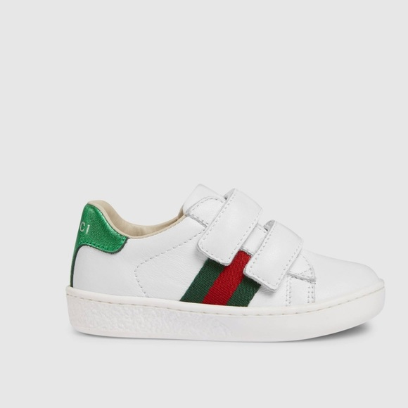 86ad932bb69 Gucci Other - GUCCI Toddler leather sneaker with Web